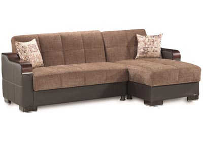Image for Downtown Brown Chenille Sectional L+C