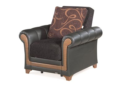 Image for Dream Decor Black Chenille Chair