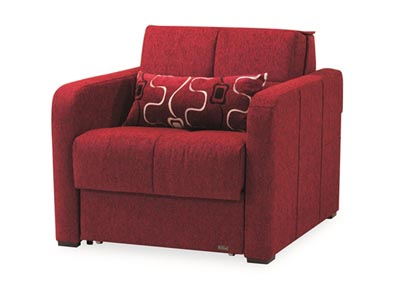 Image for Ferra Fashion Burgundy Chenille Chair Sleeper
