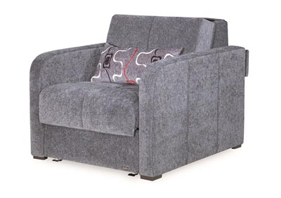 Image for Ferra Fashion Gray Chenille Chair Sleeper