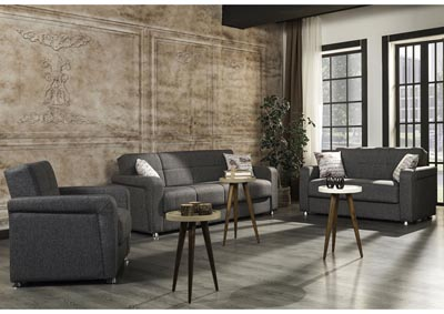 Image for Harmony Gray Sofabed, Loveseat and Armchair