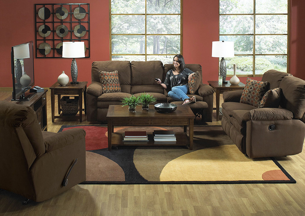 Impulse Godiva/Spice Reclining Sofa & Loveseat,ABF Catnapper