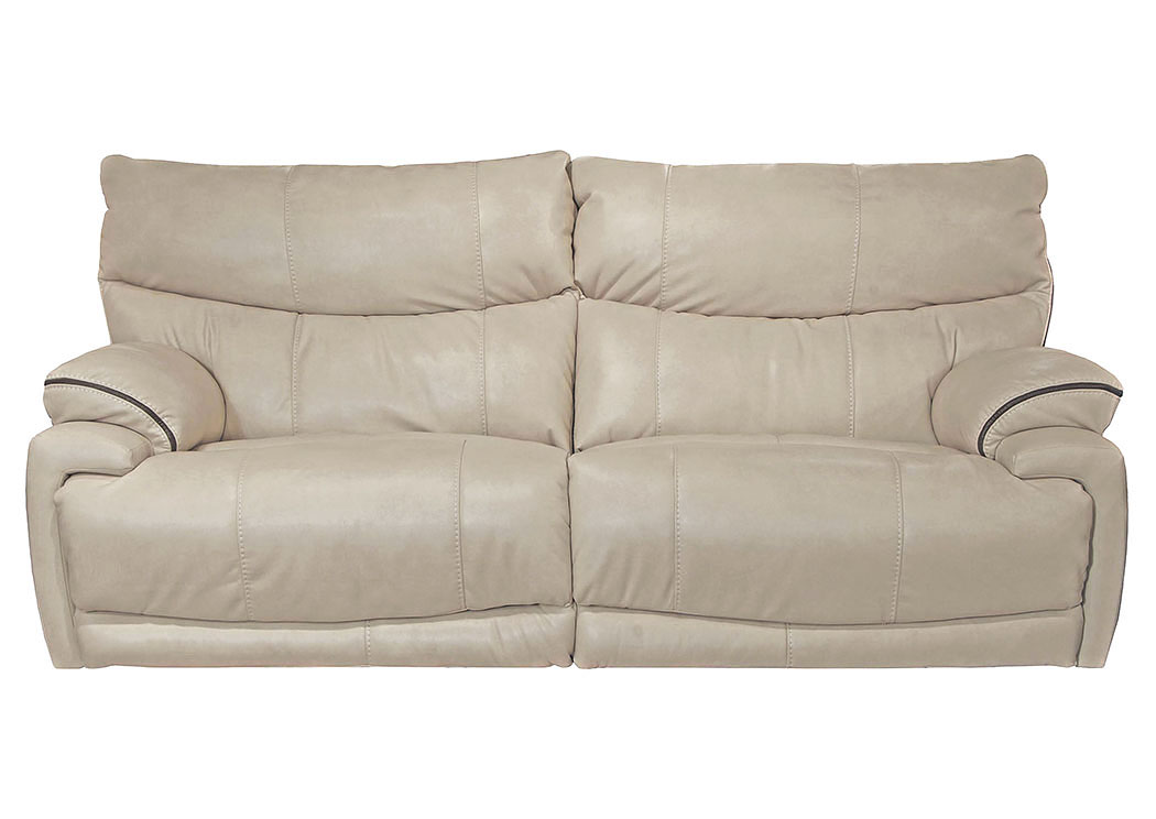 Corvin S Furniture Larkin Buff Power Lay Flat Reclining Sofa