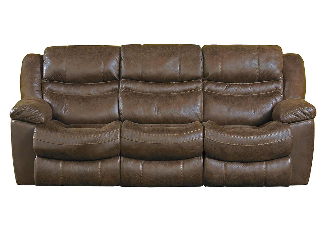 Valiant Elk Reclining Sofa w/3 Recliner & Drop Down Table,ABF Catnapper