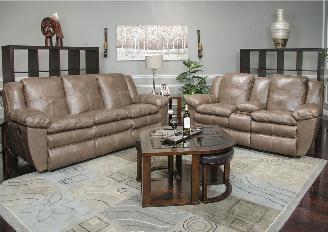 Compass Furniture Aria Smoke Top Grain Leather Power Lay