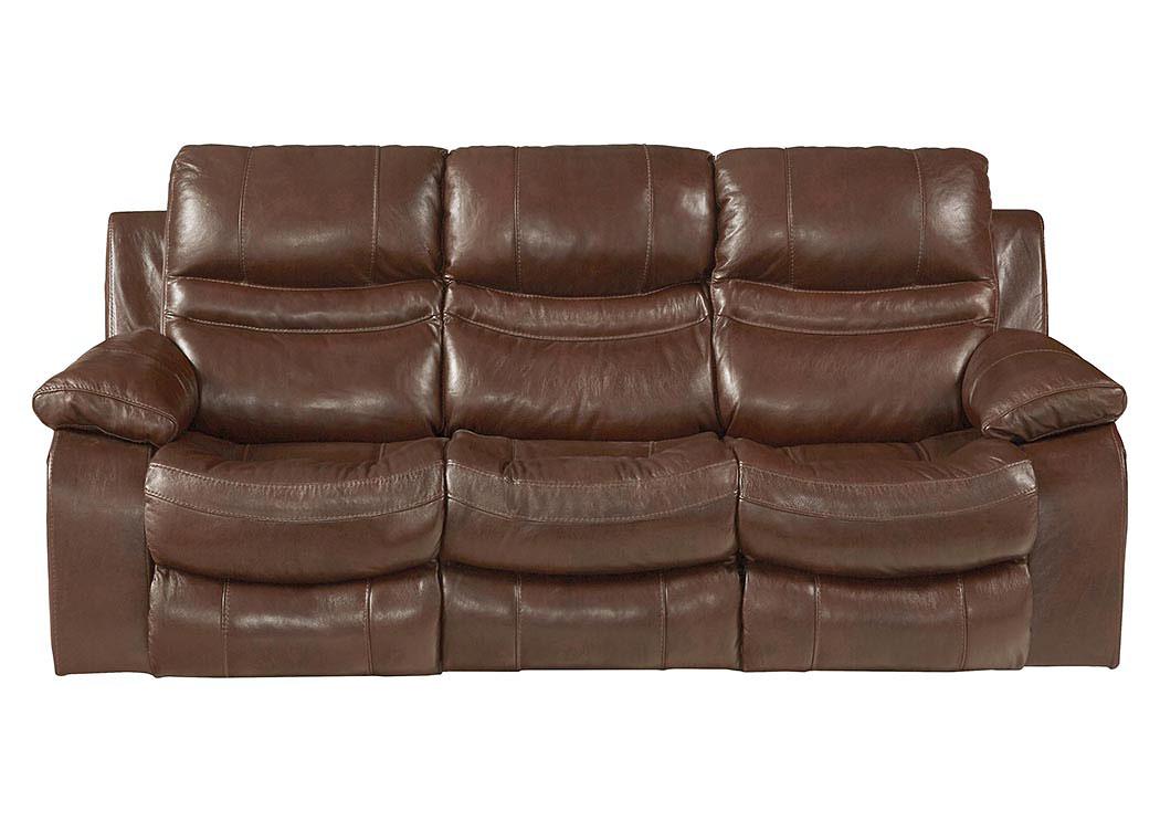 Kemper Sales Patton Walnut Top Grain Leather Lay Flat