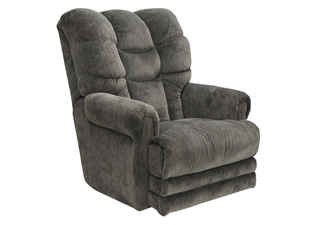 Slate Lay Flat Recliner w/ Extended Ottoman,Catnapper