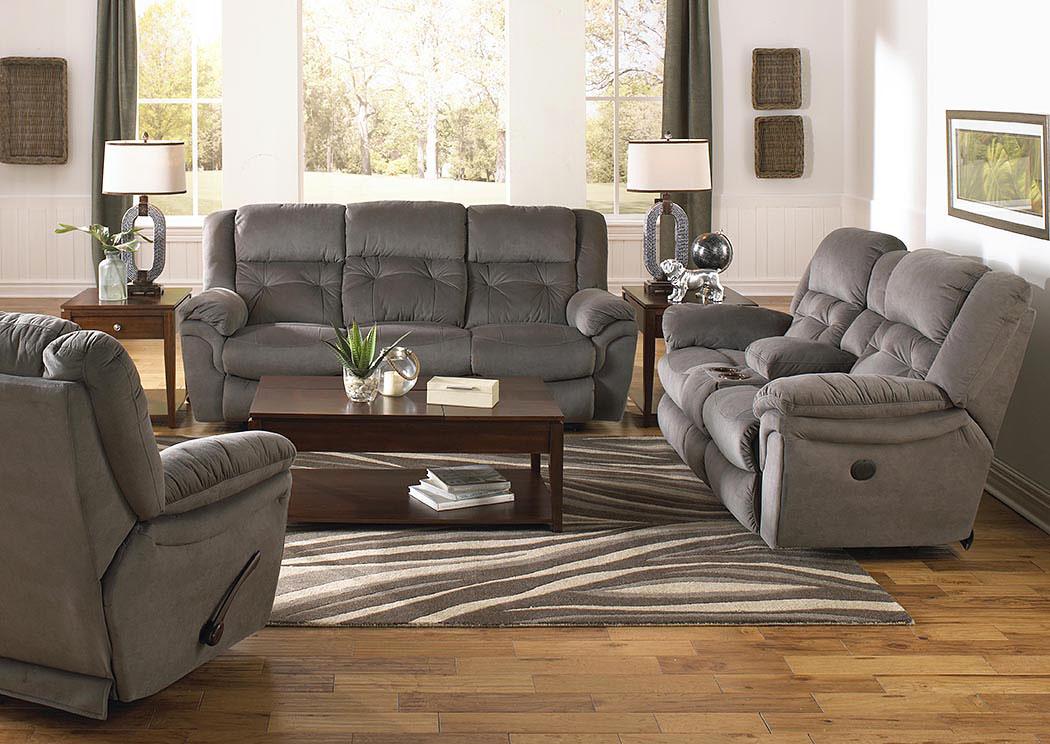 Joyner Slate Power Lay Flat Reclining Sofa And Console Loveseat,Catnapper