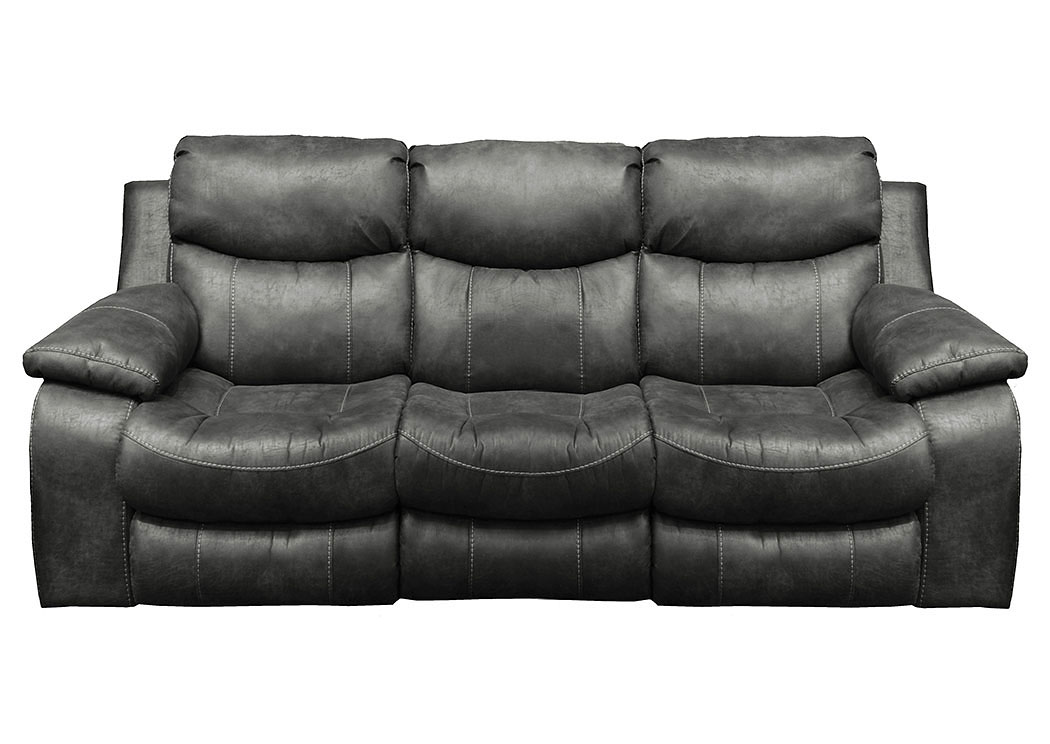 Catalina Steel Bonded Leather Reclining Sofa,Catnapper
