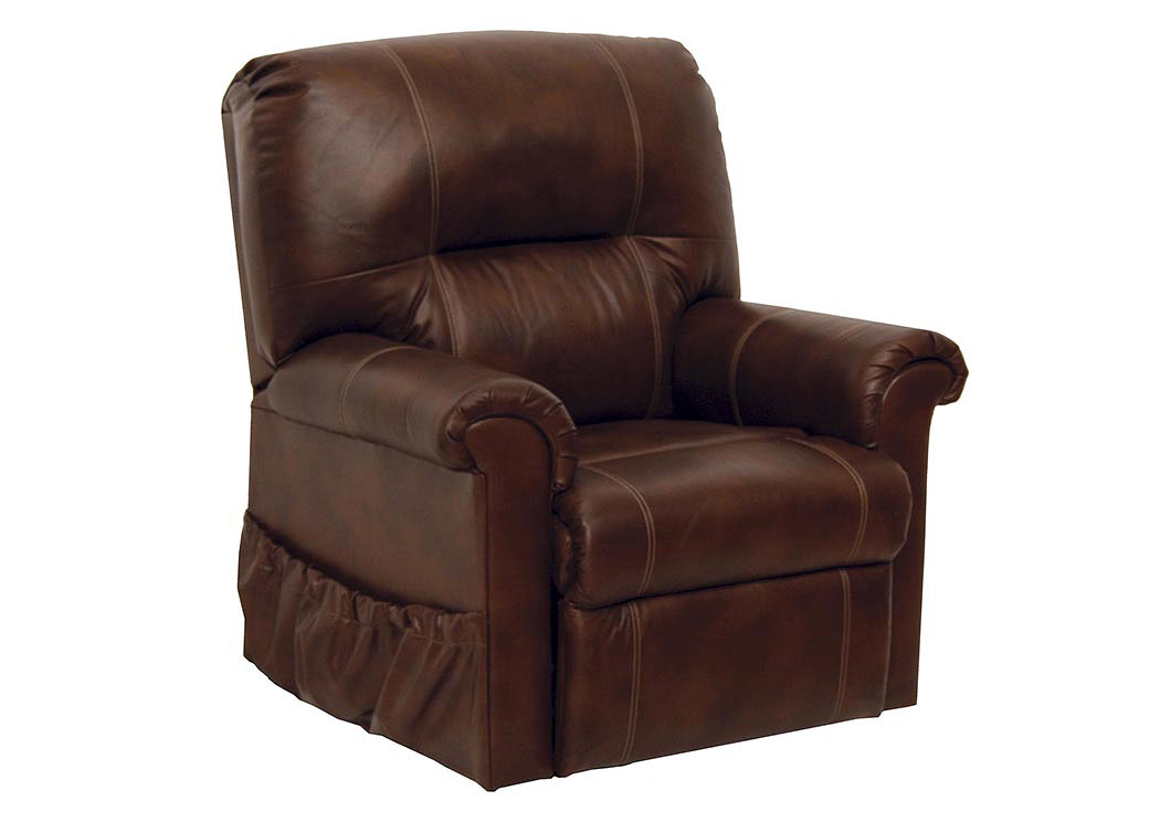 Compass Furniture Tobacco Power Lift Full Lay Out Chaise