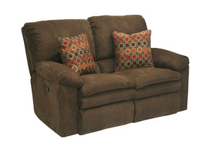 Impulse Godiva/Spice Reclining Loveseat