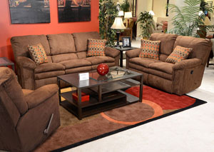 Impulse Godiva/Spice Power Reclining Sofa & Loveseat