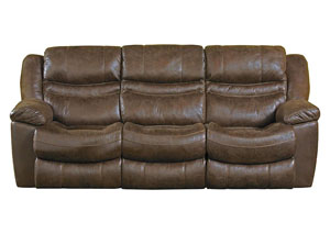 Valiant Elk Reclining Sofa w/3 Recliner & Drop Down Table