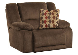 Hammond Mocha/Spice Power Wall Hugger Recliner