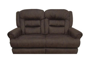 Sable Extra Tall Power Reclining Console Loveseat w/Storage & Cupholders