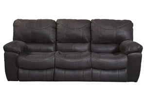 Terrance Black Reclining Sofa
