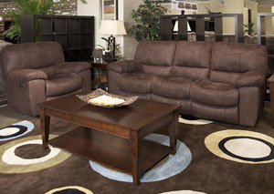 Terrance Chocolate Reclining Sofa