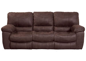 Terrance Chocolate Power Reclining Sofa