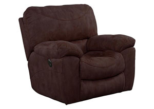 Terrance Chocolate Power Rocker Recliner