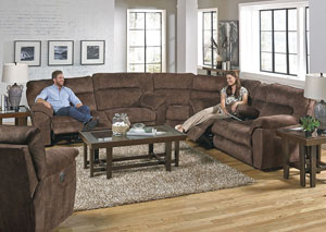 Nichols Chestnut Reclining Sofa Sectional