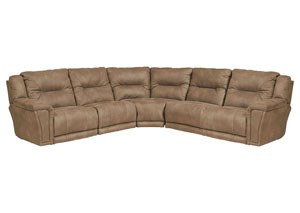 Montgomery Cement Power Lay Flat Left Facing Recliner Sectional