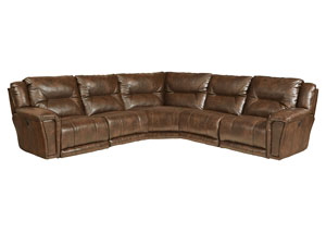 Montgomery Timber Lay Flat Left Facing Recliner Sectional