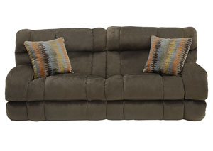 Siesta Chocolate/Canyon Power Lay Flat Reclining Sofa