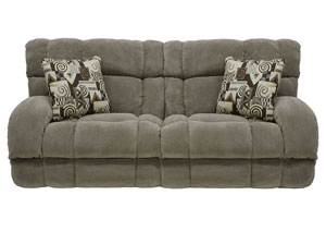 Siesta Porcini/Snickerdoodle Power Lay Flat Reclining Sofa