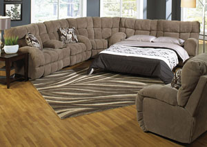 Siesta Porcini/Snickerdoodle Queen Sleeper Sectional
