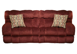 Siesta Wine/Chianti Power Lay Flat Reclining Sofa