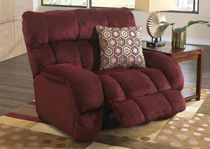 Siesta Wine/Chianti Power Lay Flat Recliner