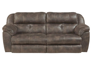 Ferrington Dusk Power Headrest Power Lay Flat Reclining Sofa