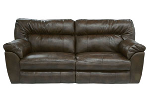 Nolan Godiva Bonded Leather Power Extra Wide Reclining Sofa