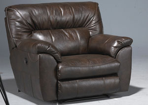 Nolan Godiva Bonded Leather Extra Wide Cuddler Recliner