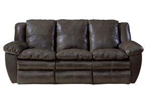 Aria Chocolate Top Grain Leather Lay Flat Reclining Sofa