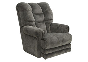 Slate Lay Flat Recliner w/ Extended Ottoman
