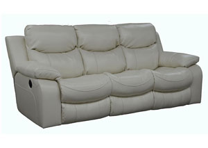 Catalina Ice Bonded Leather Power Reclining Sofa