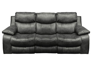 Catalina Steel Bonded Leather Power Reclining Sofa