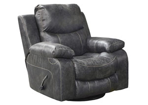 Catalina Steel Bonded Leather Power Glider Recliner
