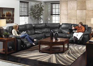 Catalina Ice Bonded Leather Power Reclining Sectional