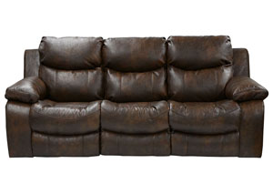 Catalina Timber Bonded Leather Reclining Sofa