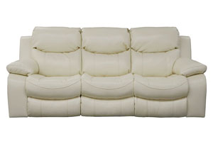 Catalina Ice Bonded Leather Reclining Sofa
