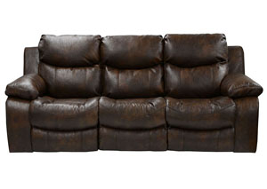 Catalina Timber Bonded Leather Power Reclining Sofa