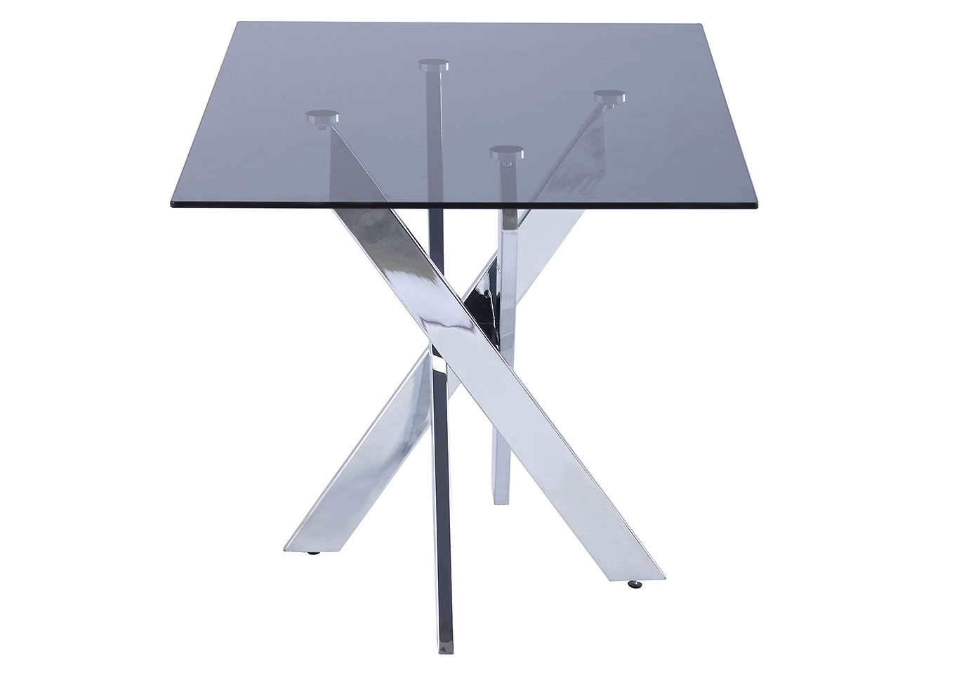 Genevieve Chrome Dining Table,Chintaly Imports