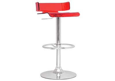 Red Pneumatic Gas Lift Swivel Stool