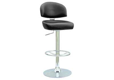 Black Pneumatic Gas Lift Adjustable Height Swivel Stool