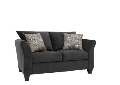 Image for Brown Traditional Love Seat w/ Curved Arms