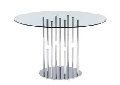 Image for Stainless Steel Floating Pedestal Dining Table
