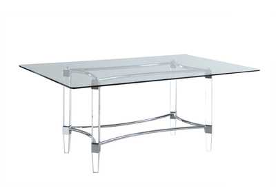 "Image for Glass Dining Table w/ 36""x 60"" Top"