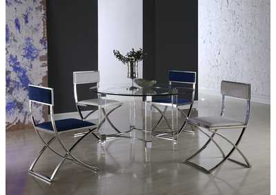 Image for Madison Blue & White 5 Piece Dining Room Set